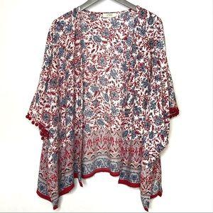 Umgee Red/White/Blue Kimono Size M/L